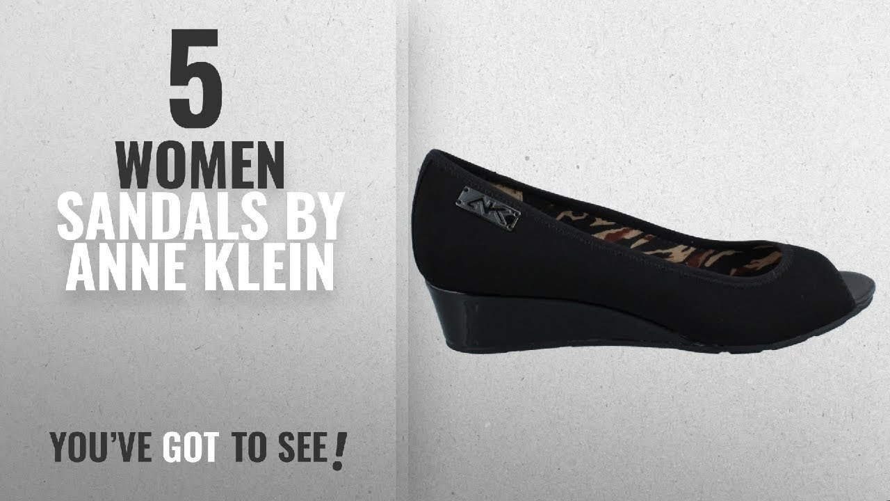 12c44fa1be21 Top 5 Anne Klein Women Sandals  2018   Anne Klein Womens Camrynne Peep Toe  Wedge Pumps