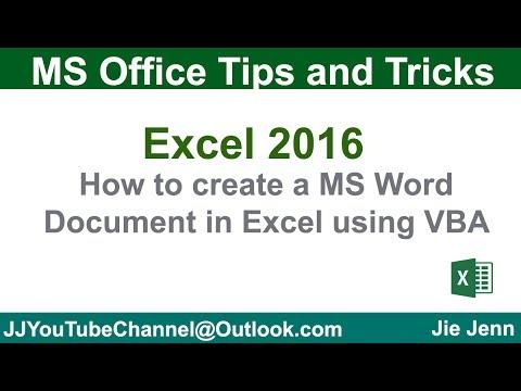 Create Word Document using Excel VBA | Excel VBA Tutorial - YouTube