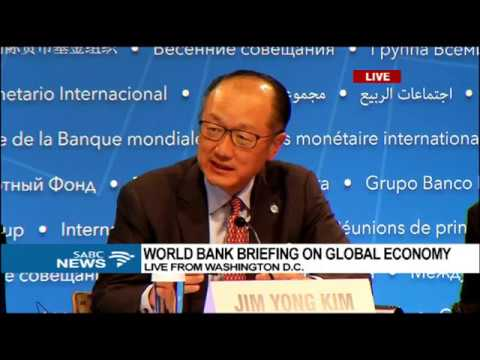 World Bank president briefs the media on global economy