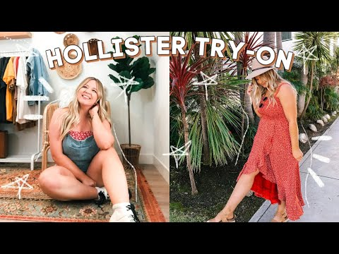 Trying On Cutie Summer Outfits From HOLLISTER!