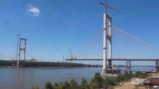 Time-lapse Of Construction Of A Suspension Bridge In St. Francisville, La By Oxblue.com
