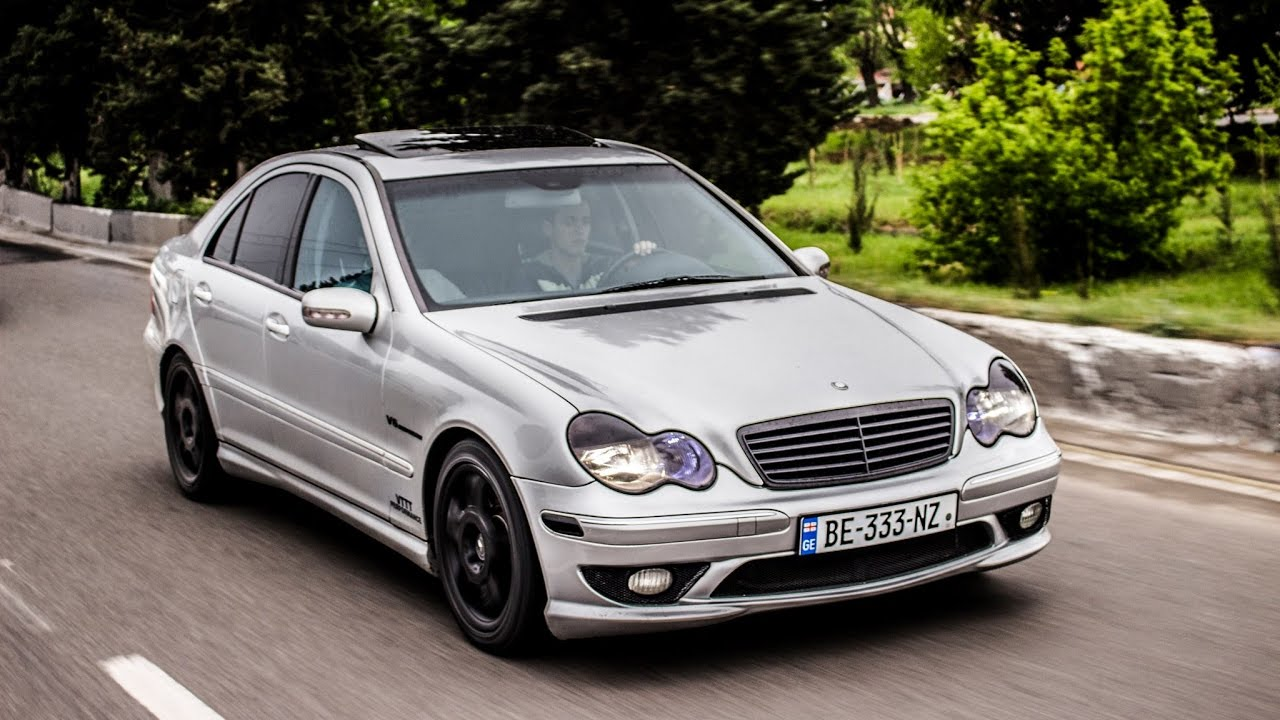 mercedes benz c32 amg loud acceleration youtube