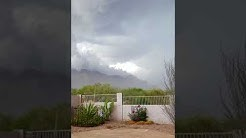 First rain storm of the year. Monsoon in Gold Canyon, Arizona