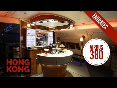 Full experience Airbus 380 Dubai Hong Kong