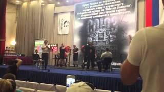 Алексей Никулин, приседания без бинтов и наколенников  - 315 кг, с.в. 82 кг!!!