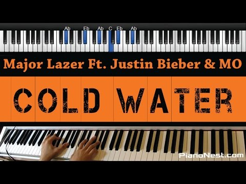 Major Lazer Ft. Justin Bieber & MO - Cold Water - Piano Karaoke / Sing Along / Cover with Lyrics