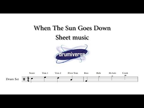 When The Sun Goes Down by Arctic Monkeys - Drum Score (Request #25)