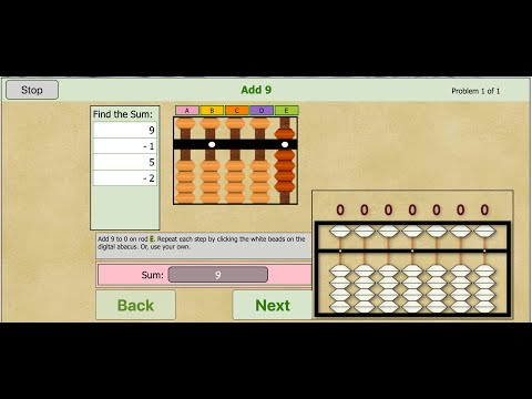 Abacus Get Started 1 - Introduction To Online Soroban Learning