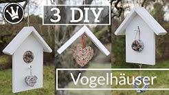 3 DIY VOGELHAUS IDEEN   Vogelhaus selber machen   Futterstation selber bauen   DekoideenReich