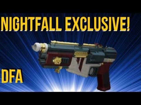 DFA - NIGHTFALL EXCLUSIVE HAND CANNON! DESTINY 2
