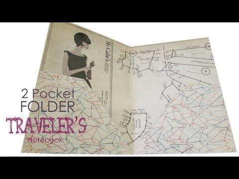 DIY Easy B6 laminated 2 pocket folder - Traveler's Notebook Insert - Planner