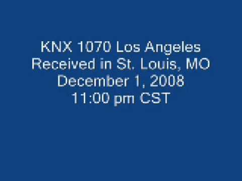 St. Louis Reception of KNX 1070 Los Angeles