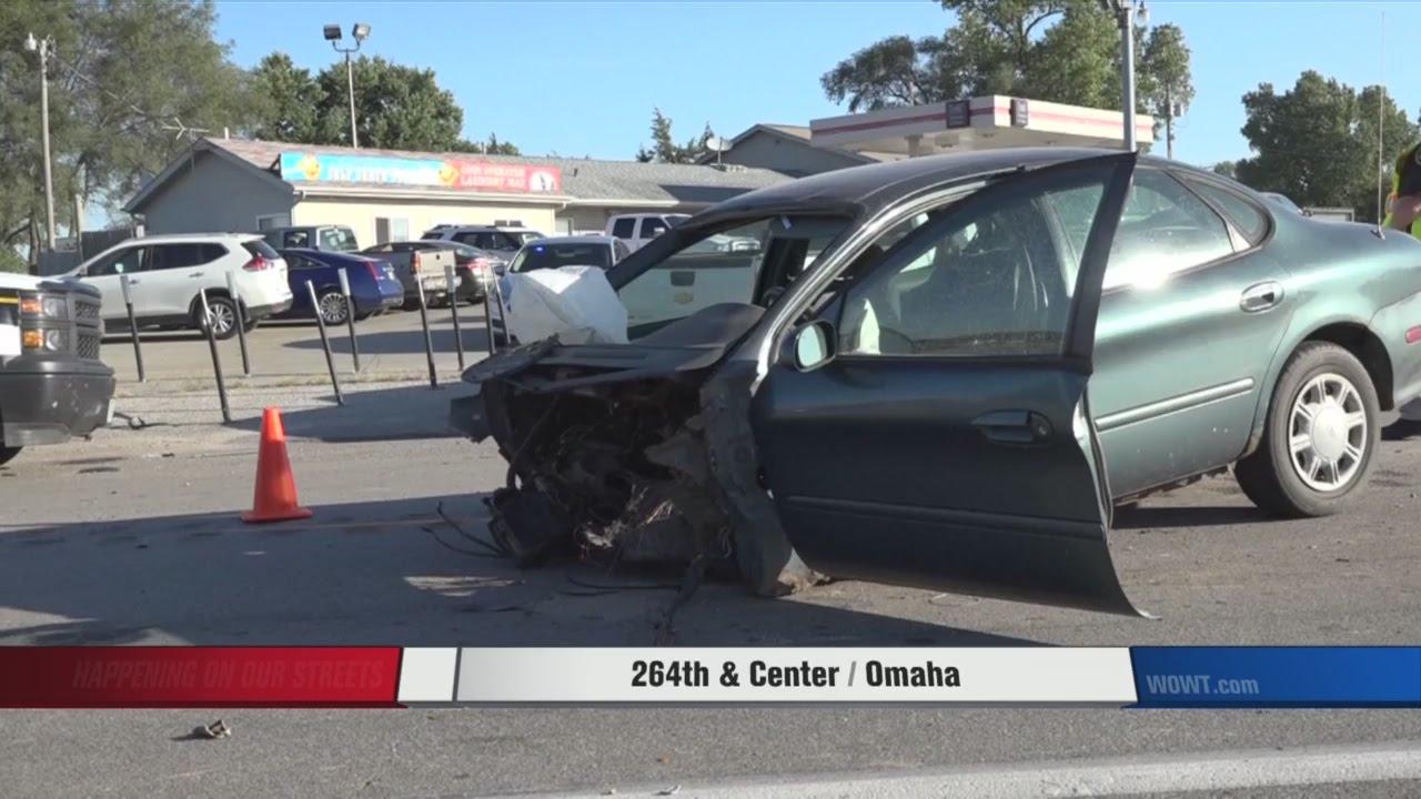 Car Split In Half In Crash Driver Walks Away Youtube