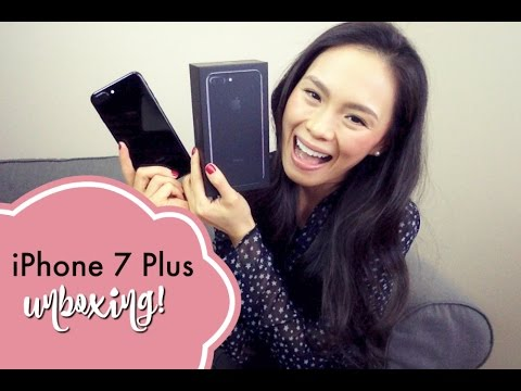 iphone 7 plus unboxing apple iphone 7 plus jet black iphone 6s plus vs iphone 7 plus youtube. Black Bedroom Furniture Sets. Home Design Ideas