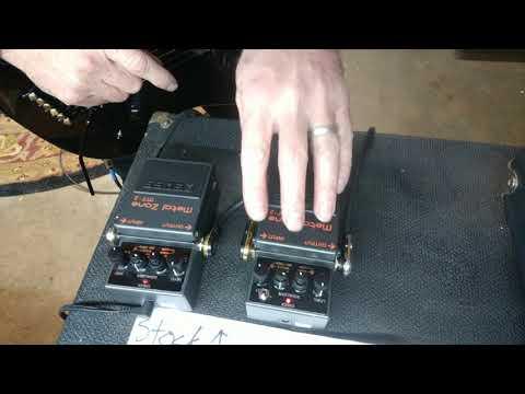 Bear Amps HMT2 Chainsaw Zone mod vs STOCK Boss MT2 Metal Zone