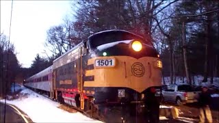[HD] Chasing the Inagural Grafton & Upton Polar Express with Friends