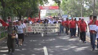 Sindicatos salvadoreños piden a los partidos de derecha evitar privatización del agua