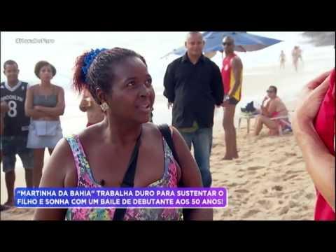 Em brincadeira Rodrigo Faro atrapalha a venda de salgados de Marta Cristina