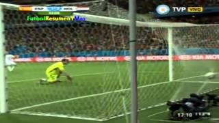 España 1 Holanda 5 - Copa Mundial Brasil 2014 - Relatos Sebastian Vignolo - Tv Publica - Los goles