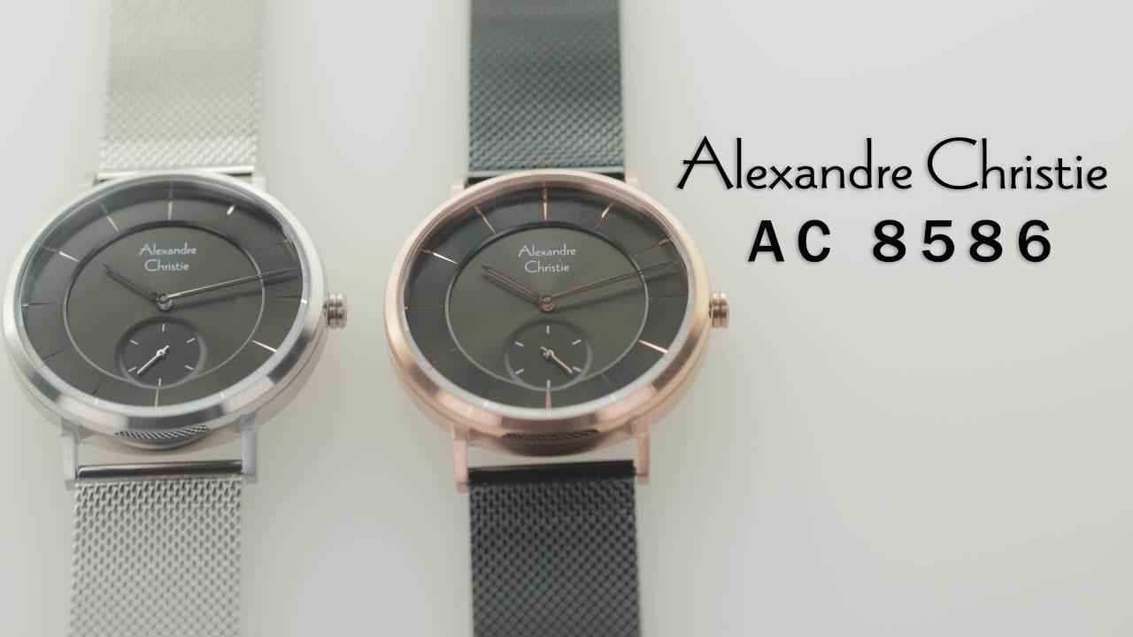 Jam Tangan Alexandre Christie AC 8586 Man Black Dial Black Stainless Steel f44281acf3