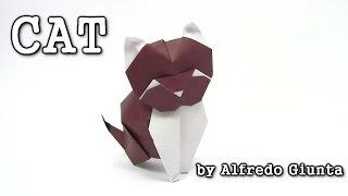 Origami CAT by Alfredo Giunta - Yakomoga Origami tutorial