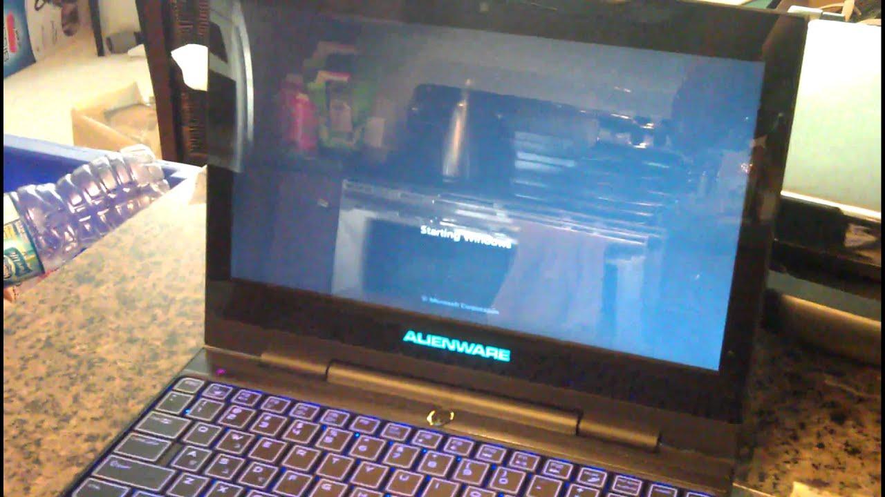 Alienware M11X R3 (Vertex 3) Bootup