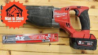 Milwaukee Sawzall Carbide Teeth AX  Blades tested to Destruction