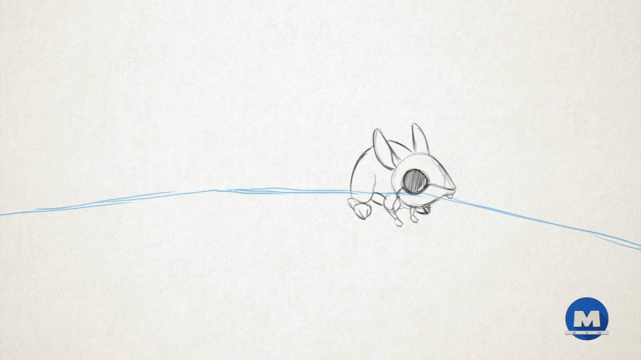 Line Drawing Mouse : Hopping mouse tests youtube