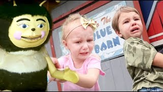 Twins Scared In Haunted Barn And Of A Giant Bee!
