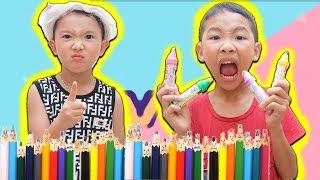 Lớp Học Nhí Nhố ❤️ Quyết Đại Ca Tham Ăn Kẹo Tô Màu Hubba Bubba ❤️ Biệt Đội Lầy Lội