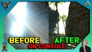 Remove Glare/Sun Rays & ground clutter on official Console servers [ Ark Survival Evolved 2018 ]