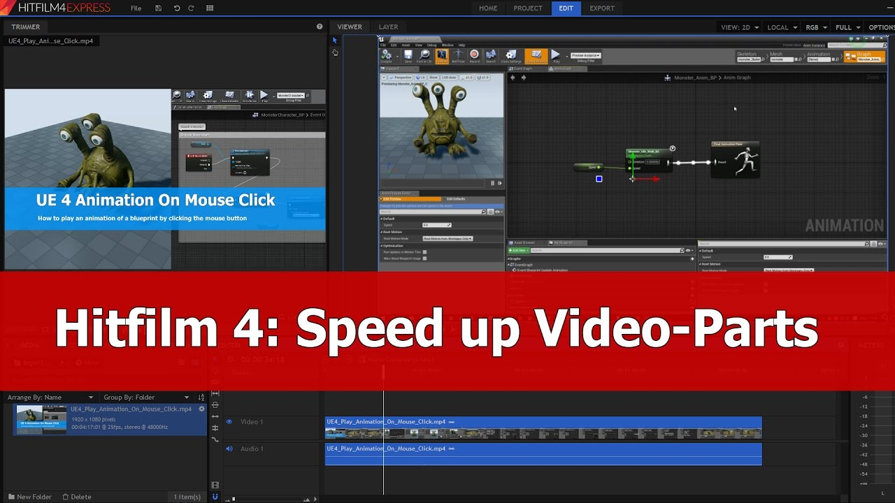 Hitfilm 4 express for beginners speed up video tutorial youtube malvernweather Images