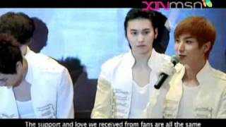 SUPER JUNIOR SS3 Singapore Press Conference Pt.3 (ENG subs)