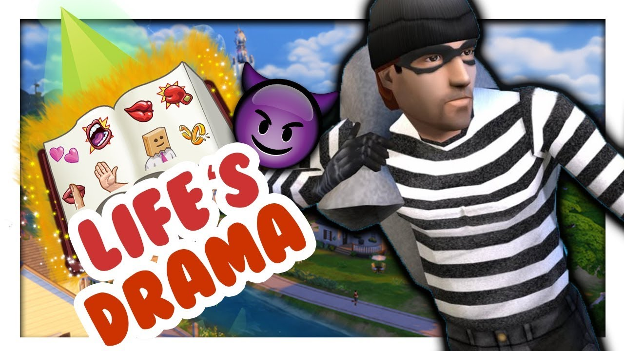 ROBBERS ARE BACK IN THE SIMS 4 ?? 😱 // Life s Drama Mod // Sims