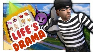 ROBBERS ARE BACK IN THE SIMS 4!??! 😱 // Life's Drama Mod // Sims 4 Mods