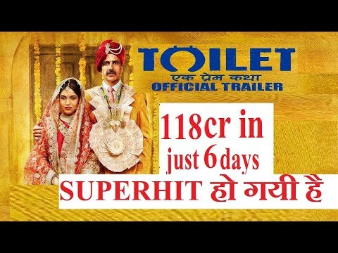 Toilet Ek Prem Katha Sixth Day (6th day) first Wednesday collection