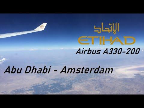 ✈️ FLIGHT REPORT ✈️ Etihad Airways - Abu Dhabi to Amsterdam - Airbus A330-200