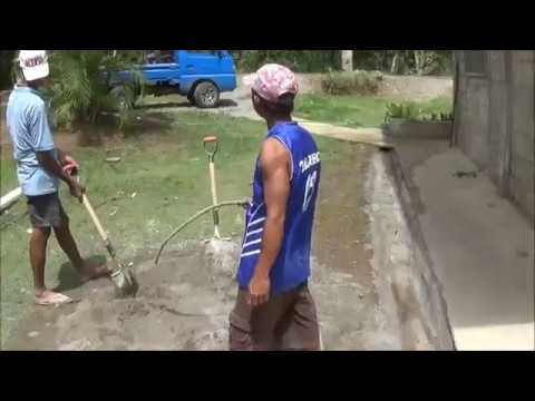Mixing Cement the Filipino Way