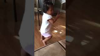 Scarlett Brielle learning to dance from her tablet😍