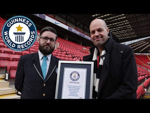 Fastest time to visit all English Football League stadiums - Guinness World Records