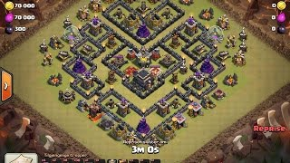 Clash Of Clans | HOW TO 3 STAR - POPULAR TH9 WAR BASE FROM YOUTUBE - PART 2 (HIGH LVL)