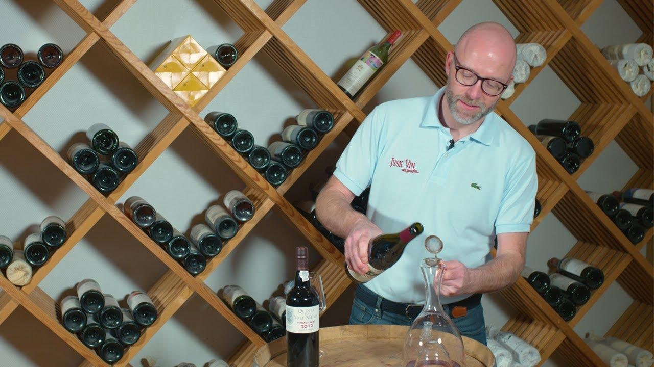 Hvad gør du, hvis din vin har bundfald?