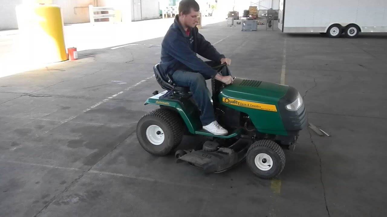 Quality Farm And Country Riding Lawn Mower Youtube