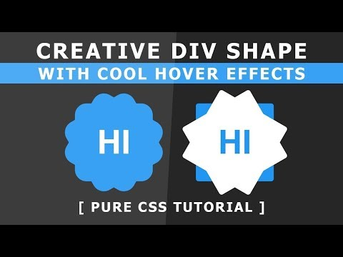 Online Tutorial for Creative Div Shape With Cool Hover Effects in CSS With Demo thumbnail