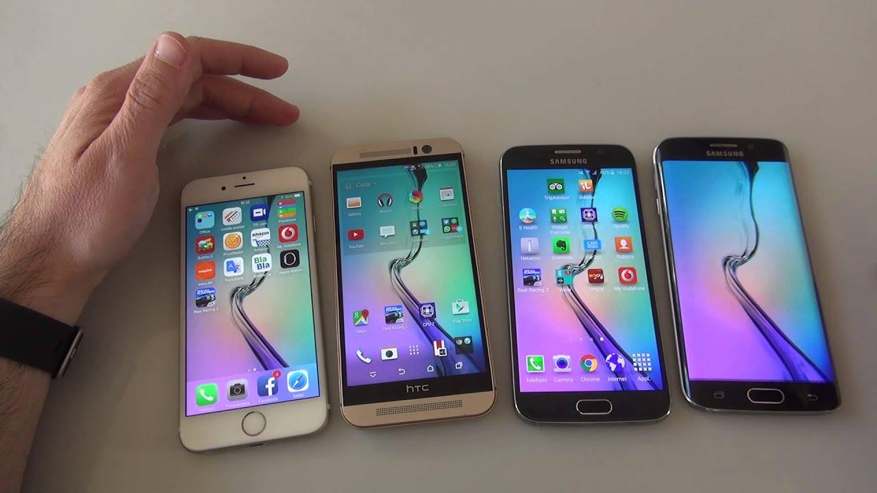Samsung galaxy note 5 vs htc one m9 plus a comparison - Galaxy S6 Vs S6 Edge Vs Htc One M9 Vs Iphone 6 Il Confronto Di Hdblog Youtube