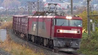 【JR貨】EH500-22牽引 高速貨物 3052レ (FHD)
