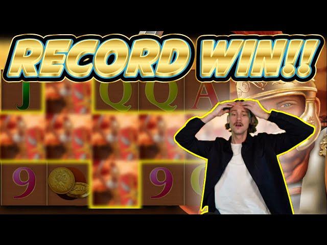 RECORD WIN! Roman Legion Big win - HUGE WIN on Casino slots from Casinodaddy