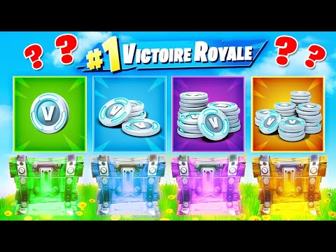 V-BUCKS CHALLENGE ! Défi FORTNITE Battle Royale