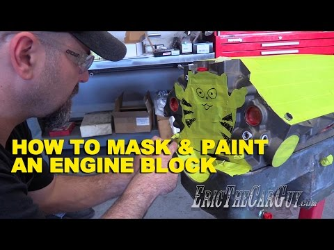 How To Mask & Paint an Engine Block