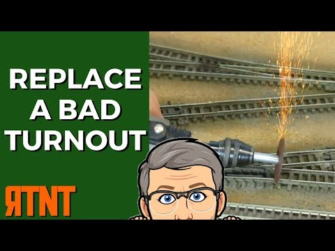How to Replace a Bad Turnout on Your Model Railroad Layout